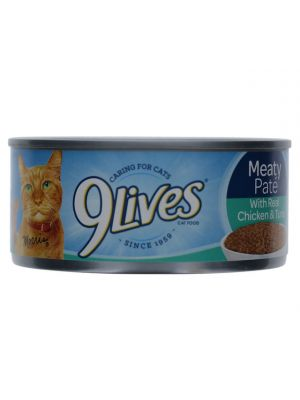 CHICKEN AND TUNA 9 LIVES CAT FOOD