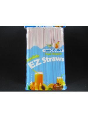 EZ PLASTIC STRAWS 100CT