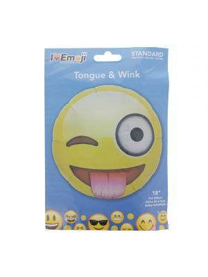 EMOJI TONGUE AND WINK FACE BALLOON