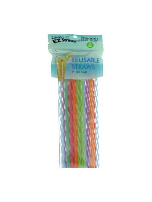 REUSABLE STRAWS 9 INCH 25 COUNT