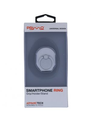 PRIMO UNIVERSAL SILVER GLITTER SMARTPHONE RING