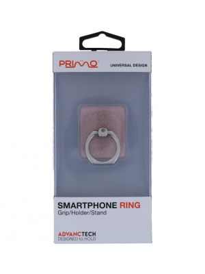 PRIMO UNIVERSAL PINK GLITTER SMARTPHONE RING