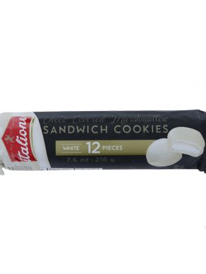 WHITE CHOCO COVER MARSHMALLOW COOKIES 12 COUNT