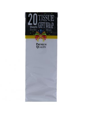 WHITE TISSUE PAPER 20 COUNT