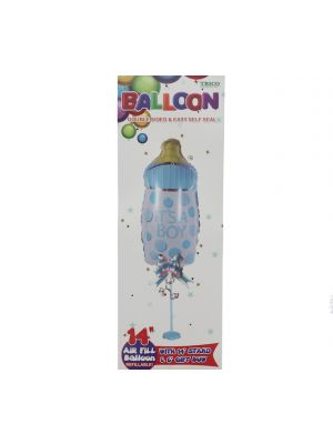ITS A BOY FOIL BALLOON 14IN WITH STAND
