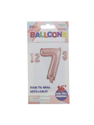 ROSE GOLD #7 FOIL BALLOON 16IN