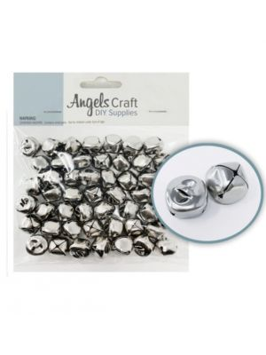 SILVER JINGLE BELL 15 MM 50 COUNT