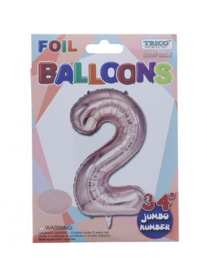 ROSE GOLD  #2 FOIL BALLOON 34 INCH