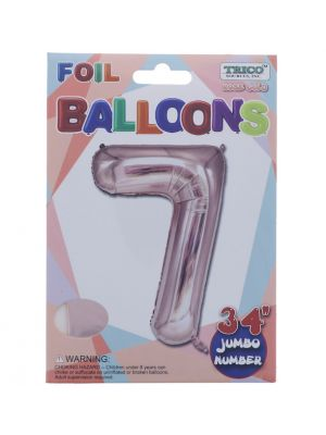 ROSE GOLD  #7 FOIL BALLOON 34 INCH