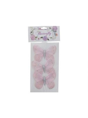 PINK BUTTERFLY 3 PC