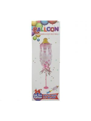 ITS A GIRL FOIL BALLOON 14IN WITH STAND