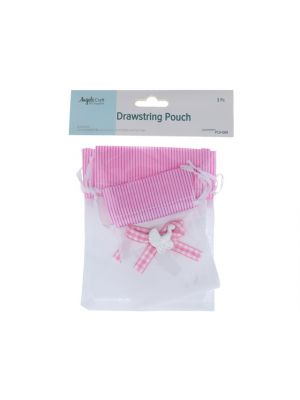 PINK AND WHITE BABY CARRIAGE POUCH