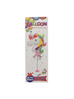UNICORN BALLOON 14IN WITH STAND