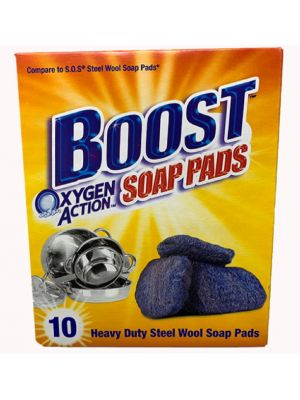BOOST OXYGEN ACTION SOAP PADS 10 COUNT