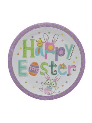 EASTER ROUND PLATE 9 INCH 10 COUNT