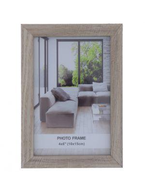 WHITE PHOTO FRAME 4 X 6 INCH