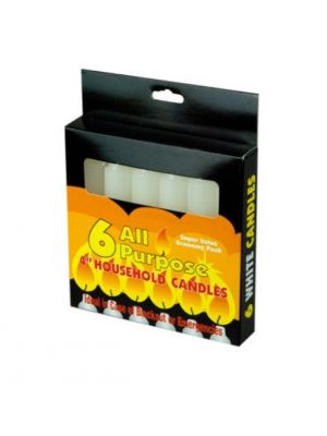 ALL PURPOSE CANDLES 4 INCH 6 COUNT