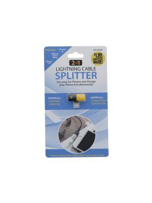 LIGHTNING CABLE SPLITTER 2 IN 1