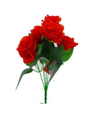 RED ROSE BOUQUET 5 BRANCH MEDIUM