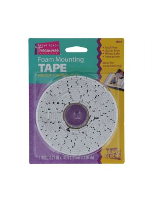 FOAM MOUNTING TAPE PRE CUT 0.75 IN X 10 FT