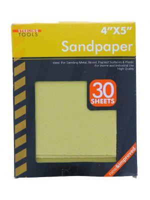 SANPAPER 30 SHEETS 4 X 5 INCH
