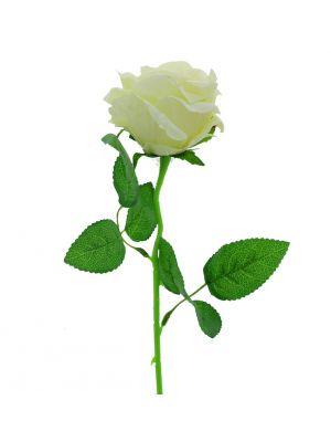WHITE VELVET ROSE BRANCH LONG