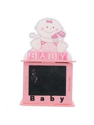 BABY GIRL CHALK BOARD TREAT BOX PINK