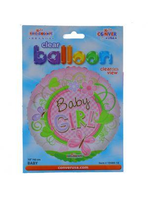 ITS A GIRL NON LATEX BALLOON 18 INCH
