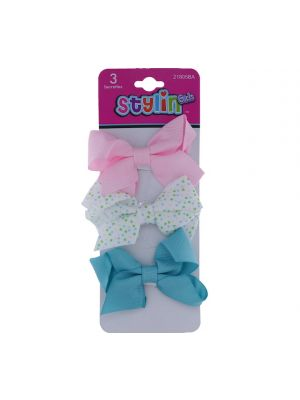 SNAP BOW 3 PACK BARRETTES