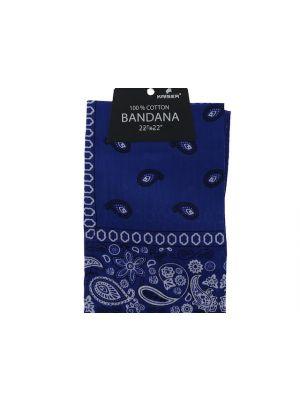 Royal Blue Bandana, 100% Cotton Versatile Large Paisley Bandanas in Pack of 1