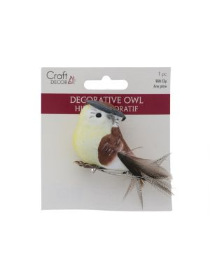 DECORATIVE OWL WITH CLIP