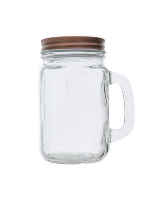 COPPER MASON JAR WITH HANDLE 450 ML