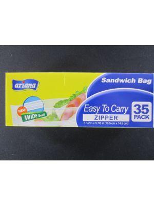 STORAGE BAG SANDWICH ZIPPER 35PK