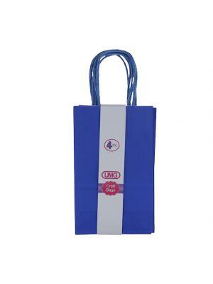 DARK BLUE SMALL CRAFT BAG 4 COUNT 13X8X21CM