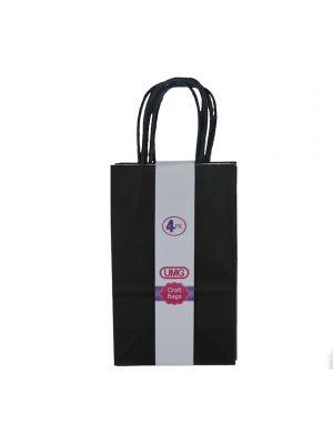 BLACK SMALL CRAFT BAG 4 COUNT 13X8X21CM