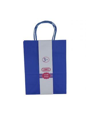 DARK BLUE MEDIUM CRAFT BAG 3 COUNT 19X10X25CM