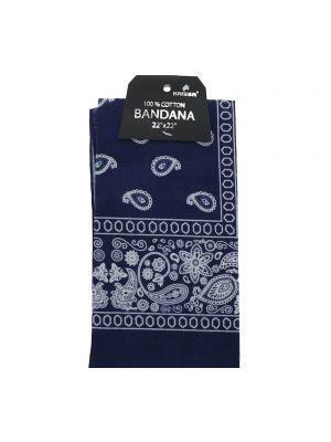 Navy Blue Bandana, 100% Cotton Versatile Large Paisley Bandanas in Pack of 1