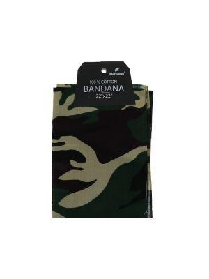 Camouflage Bandana, 100% Cotton Versatile Large Paisley Bandanas in Pack of 1