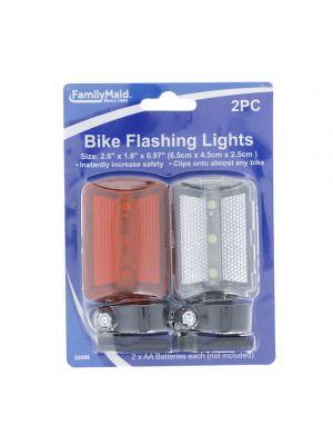 BIKE FLASHING LIGHTS 2 PACK