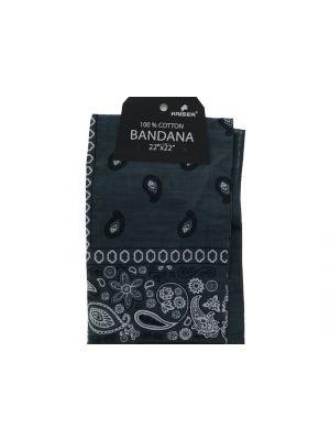 Grey Bandana, 100% Cotton Versatile Large Paisley Bandanas in Pack of 1