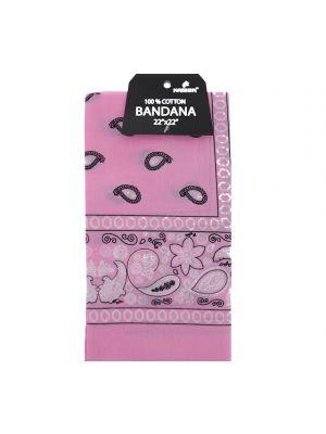 Pink Bandana, 100% Cotton Versatile Large Paisley Bandanas in Pack of 1