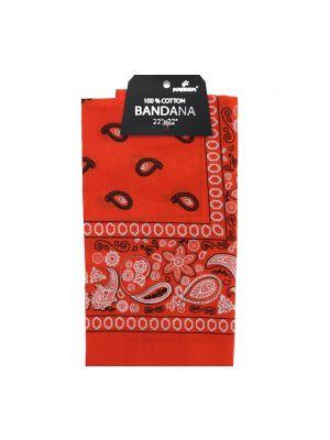 Orange Bandana, 100% Cotton Versatile Large Paisley Bandanas in Pack of 1