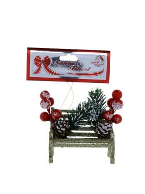 BENCH WITH BERRIES 9 CM