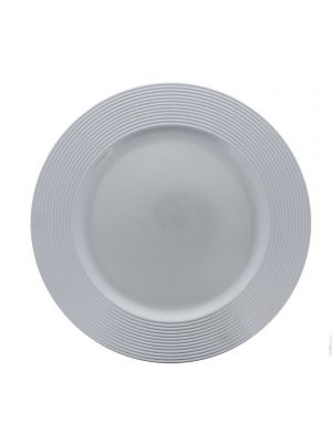 SILVER ROUND CHARGER PLATE