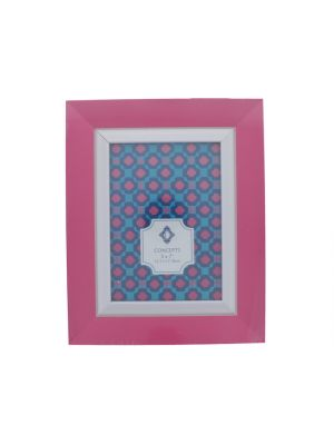 WHITE AND PINK FRAME 5 X 7 INCH