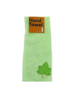 HAND TOWEL WITH LEAVES 13 INCH X 28 INCH