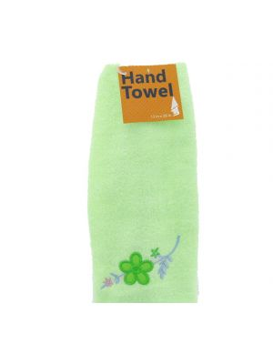 HAND TOWEL WITH FLOWER 13 INCH X 28 INCH