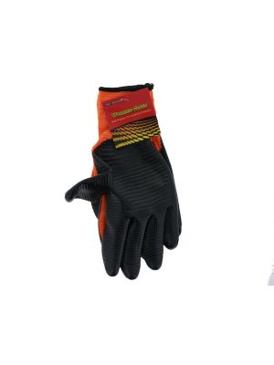 GLOVES NYLON ORANGE DIPPED