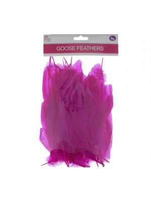 HOT PINK GOOSE FEATHERS 5-7IN
