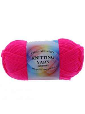 HOT PINK ACRYLIC YARN